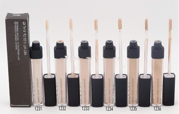 New Brand Makeup Radiant Creamy Concealer Liquid Foundation 6 colors 12pcs Free shipping
