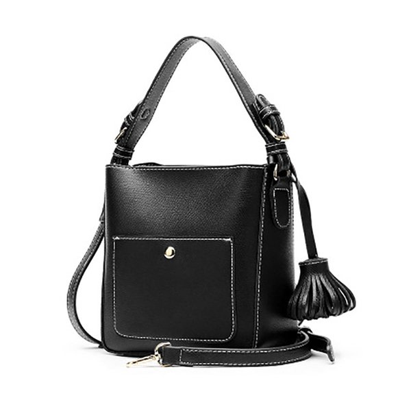 2018 new bags women's Fashion shoulder messenger bag OL portable bucket bags Solid color PU handbag borse da donna tas wanita