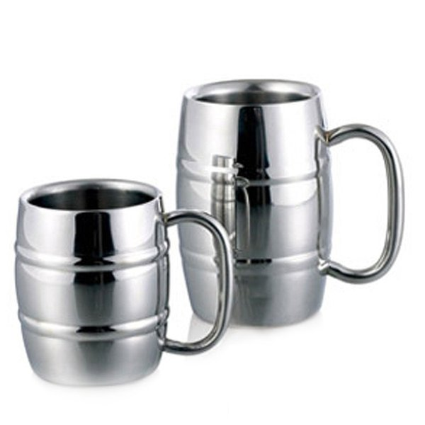 High Quality Metal Drinkwware Cups For Beer /Coffee /Tea Mug /Double Wall Bamboo Pattern Stainless Steel Mug And Cup