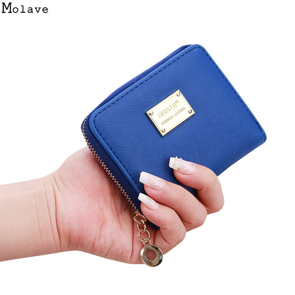 2018 Lady New Kawaii Girl Small Change purse Coin bag Short Coin pouch Women wallet Embossed Folds Pu leather purses jul 31