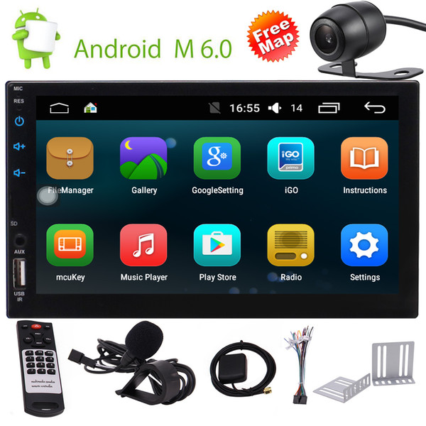 """Android 6.0 Car Stereo Video Player Eincar 7"""""""" Double Din In Dash Car Radio Touch Screen GPS Navigator Bluetooth WIFI GPS Navigation"""