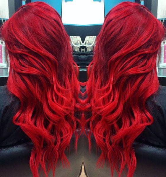 Parrucca rossa del fronte dei capelli umani della parte anteriore del merletto 180% di densità dell'onda del corpo con la parrucca vergine peruviana dei capelli di scoppi con la linea sottile dei capelli del bambino