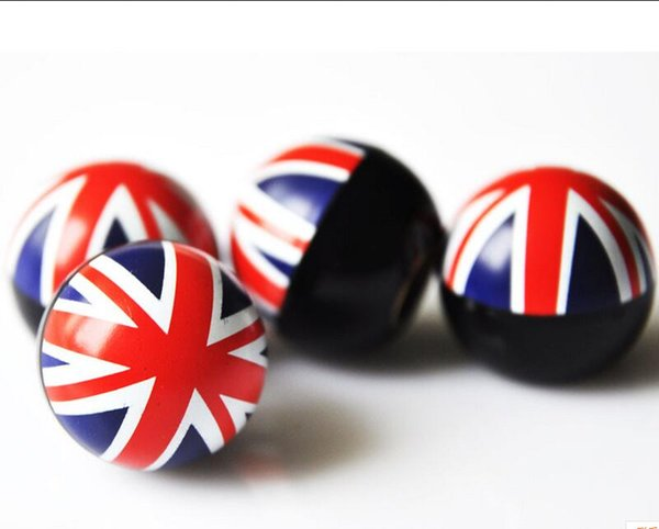 Motorcycle Universal Bicyle Bike Car Tire Valve Cap Wheel Dust Covers American Flag UK England flag Ball Car Styling Fit for Ford Mercedes
