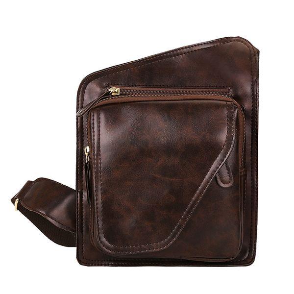 Мужская мода Чистый цвет Кожаные сумки через плечо Сумка через плечо Сумка на плечо Популярные JUNE7