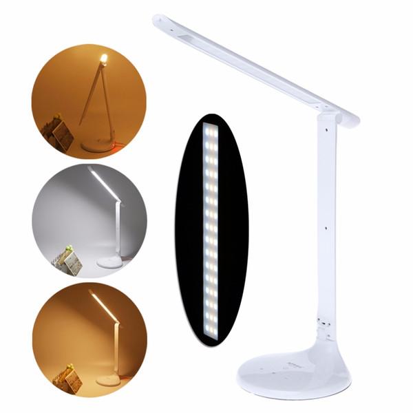 HNGCHOIGE Folding Design LED Desk Lamp Table Lamp 3 mode Touch Switch Double light