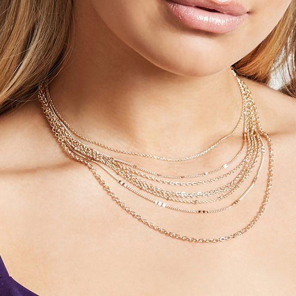 Bijoux transfrontaliers européens et américains de la rue tendance nouvelle chaîne collier collier