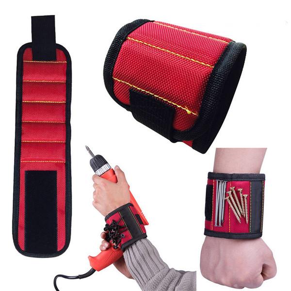 5 pulsera magnética con imanes fuertes para sujetar tornillos uñas Brocas ideales para su bolsa de herramientas Reparación automática perfecta