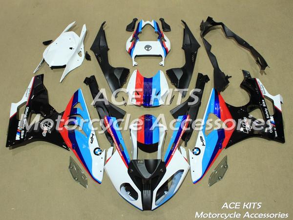 ACE Motorrad Verkleidungen für BMW S1000RR 2009 2010 2011 2012 2013 2014 Kompression oder Injektion Karosserie Schwarz Blau Weiß Rot No.518