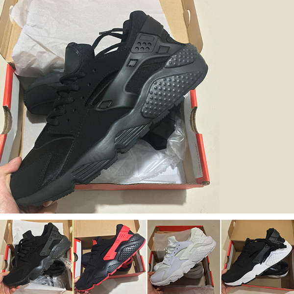 best selling purchase cheap classic styles Acheter Air Nike Air Huarache Courir 4.0 5.0 Classique Triple Blanc Noir  Rouge Or Hommes Femmes Huarache Chaussures Huaraches Sport Sneakers Courir  ...