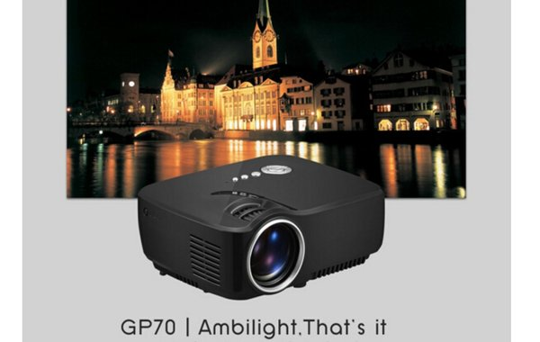 GP70 2016 New projector HD LED HDMI USB Video Digital Home Theater Portable HDMI USB LCD DLP Movie Pico LED Mini Projector FREE SHIPPING