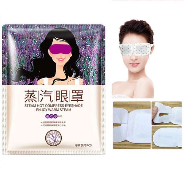 Newest warm steam eye mask with lavender essence journey disposable eye patch moisturize eyes and relieve tiredness eye mask free shipping