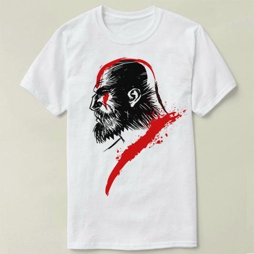 T-shirt Kratos Sparta Dieu van Oorlog GOW Bladen van Chaos guerrier Death en Rage