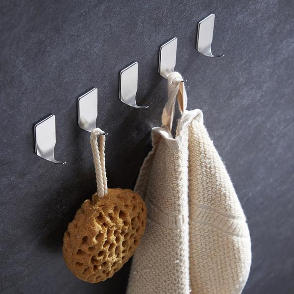 LIYIMENG 8PCS/SET Multi-Purpose Hooks Bathroom Holder Kitchen Organizer 3M Rustproof Towel Hooks Door Clothes Coat Hat Hanger