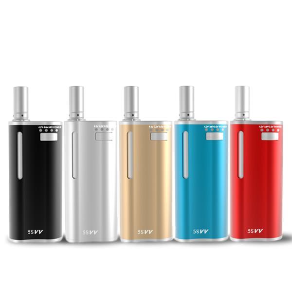 5S Vv Best Mini Box Mods 650Mah Dry Herb Vape Pen Set And Thick Oil 2 In 1 Variable Voltage Vaping Kits