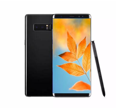 Goophone Note 8 9 plus s8 plus Fingerprint Unlocked Cellphone 6.2 inch Quad Core MTK6580 fake 4g lte 16GB ROM Show 128GB