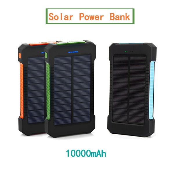 Caricabatterie solare portatile da 10000 mAh con caricatore solare Dual USB Battery Banks per iPhone per Samsung Smartphone Power