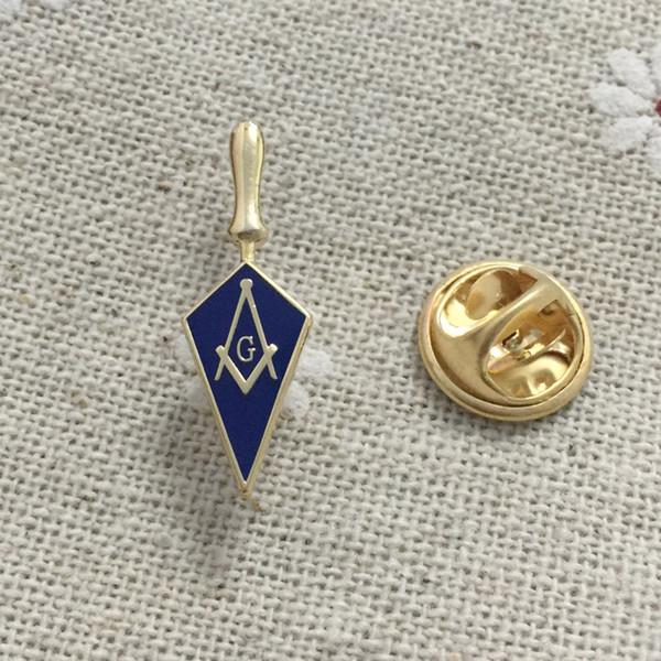 10pcs Enamel Badge 1'' High Trowel Masonic Freemason Tool Masonry Square and Compass Lapel pin gift for fellow Freemason