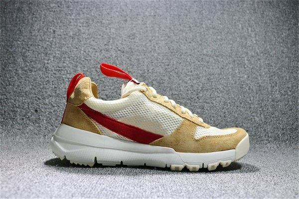 Hottest Tom Sachs Craft Mars Yard 2.0 Space Camp Running Shoes For Men Outdoors Shoes AA2261-100 Natural Sport Red Maple Running Shoes 7-13