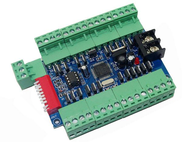 24CH DMX dimmer controller board ,24 channel DMX512 decoder dimmer with 3P connection 24A output for led tape ribbon led lamp