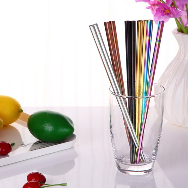 10Pcs/set Stainless Steel Color Gold-plated Tableware Long 23CM Reusable Chopsticks Tableware Home Non-slip Chinese Chopsticks