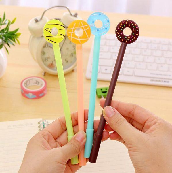 1 Piece Lytwtw's Korean Stationery Candy Sweet Cute Doughnuts Creative School Office Supplies Gel Pens Gift Donut Novel Handles