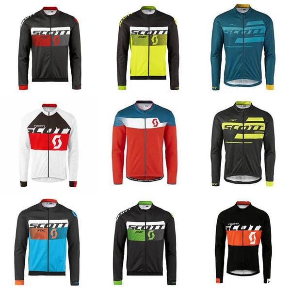 Camiseta SCOTT Cycling Jersey MTB para hombre Ropa de bicicleta ropa ciclismo hombre transpirable de secado rápido Camisetas de manga larga de carreras F0902