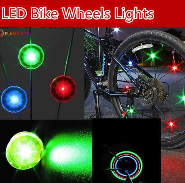 best selling New Bike Bicycle LED Wheels Lamp Spokes mini hot wheel Lights Motorcycle Electric car flash Bike Lights