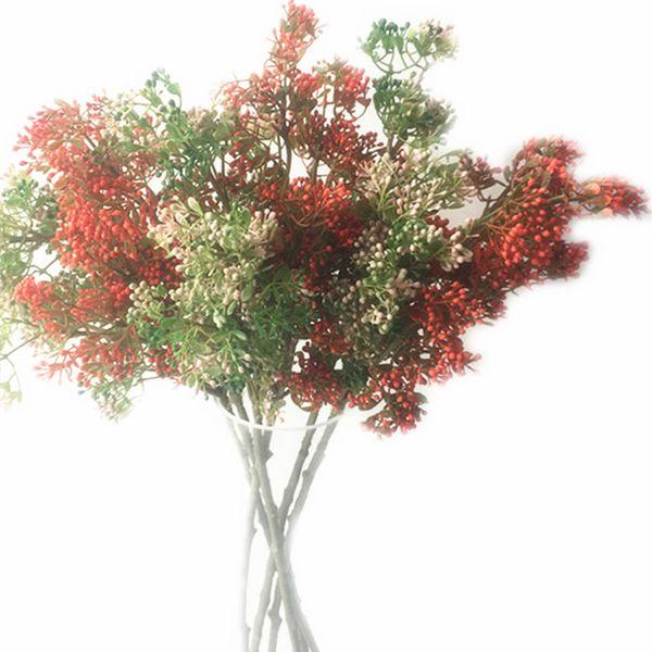 20pcs Fake Single Stem Coconut Simulation Pistachios Plastic Fruits Greenery Stem for Wedding Home Showcase Decorative Artificial Flowers