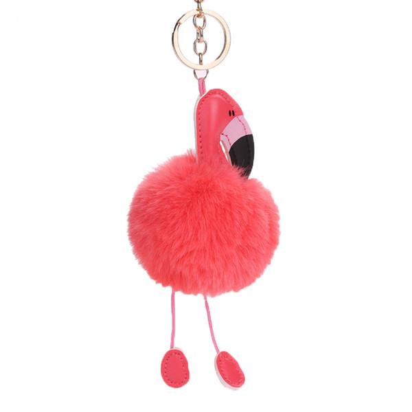 Плюшевые фламинго Подвеска Брелок для ключей Брелок для ключей Брелок для ключей Украшения для украшения автомобилей
