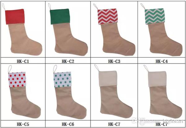 top popular Canvas Christmas DIY Socks Stocking Gift Bags Xmas Stocking Christmas Decorations For Home And For Tree Socks Bags 2019
