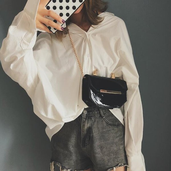 Women's Crossbody Shoulder Bags Hot Fashion Ox Horn Patent Leather Designer Clutch Satchel Handbags Backpack Bag Wholesale
