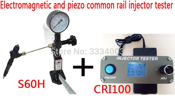 AM CRI100 Common Rail Injector Tester Electromagnetic And Piezo +S60H  Diesel Injector Nozzle Tester Automotive Diagnostic System Automotive  Diagnostic