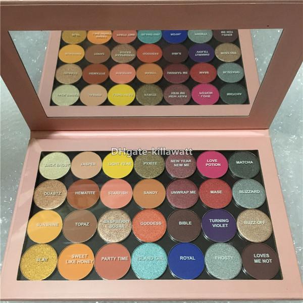 I migliori colori della nuova gamma di colori di una palette aperta 28 colori Ombretto palette ombre singole brillanti opache Ombretto con magnetico
