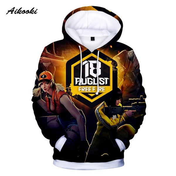 2019 Menwomen Free Fire Hoodies 3d Fashion Casual Boy Street Wear Cool Tops Hooded Sweatshirts Mens Popular Game Free Fire 3d Coats From Beatricl