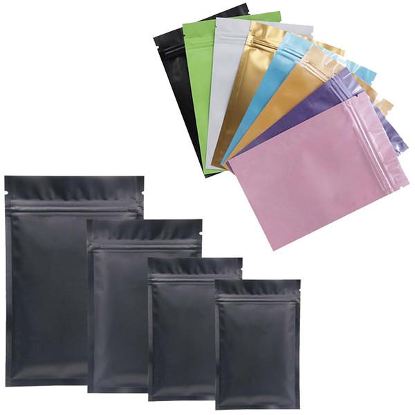 Multicolor Plastiktüte Mylar Aluminiumfolie-Reißverschlusstasche für die langfristige Aufbewahrung von Lebensmitteln und zum Schutz von Sammlerstücken zwei Seitenfarben