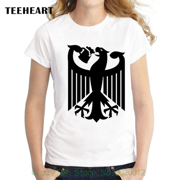 Women's Tee Official Eagle Drinking Beer Coat Of Arms Germany Funny Joke Women White T Shirt Hot Selling T Shirt