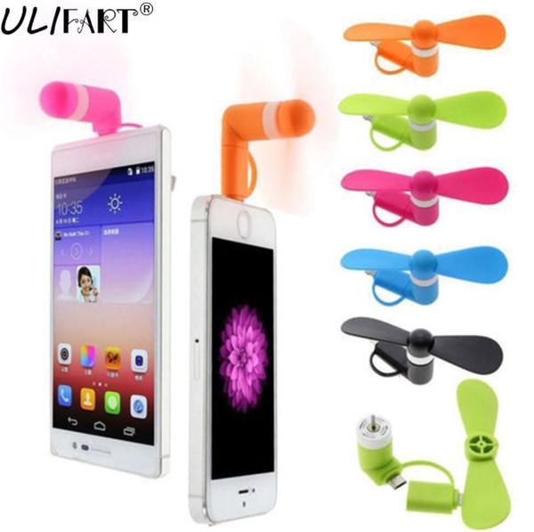 ULIFART 10pcs/lot New Portable Mini USB fan For Android IPhone Super Cute USB Cooler Cooling Mini Fan