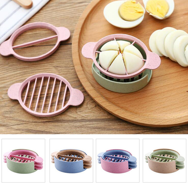 Egg Slicer Cutter Egg Cooking Tool Multifunctional Wheat Straw Mold Flower Edges Cutter Artifact Gadgets Kitchen Utensils