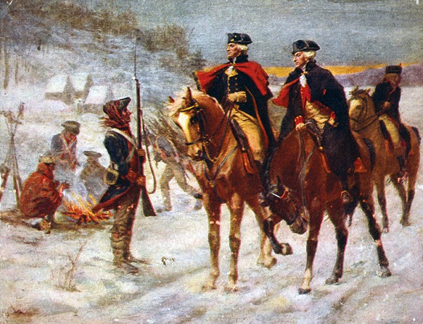 George Washington At Valley Forge Handpainted & HD Print Revolutionary War Art Oil Painting on Canvas office Wall art culture Multi Sizes