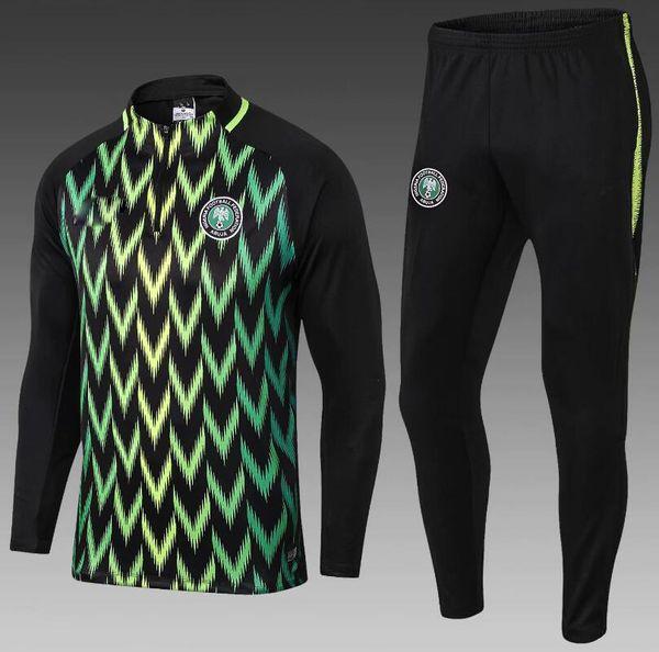 2018 2019 Чемпионат мира по футболу Nigeriaes куртка Tracksuit 18/19 STARBOY Okocha трикотажные набор футбол подготовки костюм