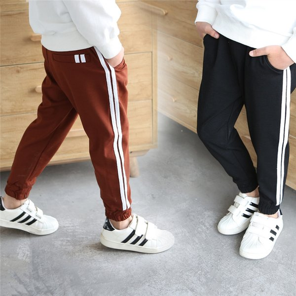 New 5-14Y High Quality Boys Girls Sports Spring Autumn Casual Pants Kids Soft Full Length Pants School Kids Trousers Track