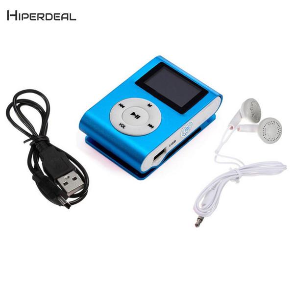 Großhandel Mini Mp3 Player Clip Tragbare Audio LCD Bildschirm Unterstützung  32 GB Karte Mit Kopfhörer Mode Kinder Liebhaber Junge Mädchen Geschenk ...
