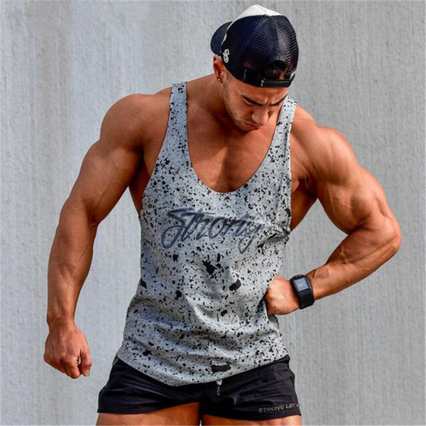 862c85f9a1f 2018 New Brand Mens Sleeveless T Shirts Summer Cotton Slim Men Tank Tops  Gyms Clothing Bodybuilding