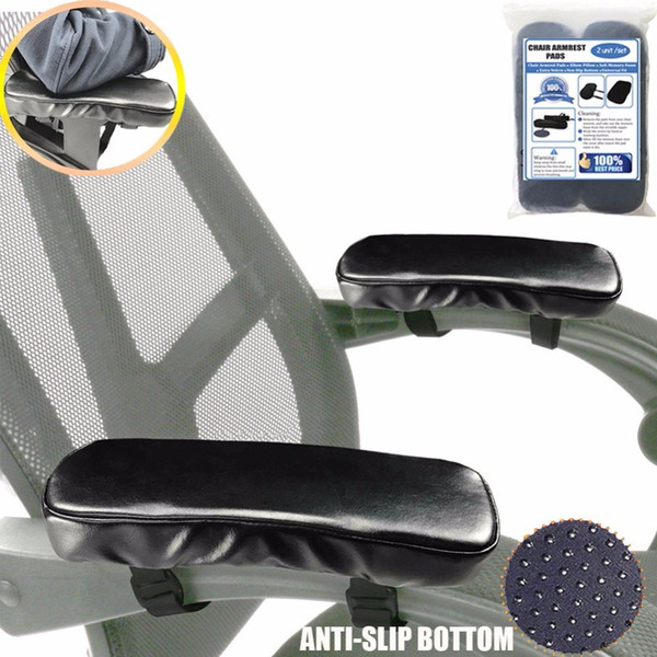Aag Chair Armrest Pads Memory Foam Elbow Pillow Support Arm Rest Covers Pu Leather Armrest Pads Elbow Relief Furniture