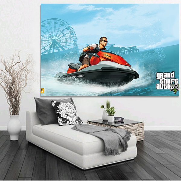 Jeu vidéo Grand Theft Auto V GTA 5 Art affiche 8x12 24 * 36 pouces image murale