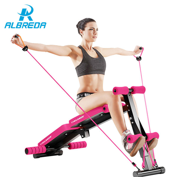 2019 Albreda New Sit Up Bench Fitness Equipment For Home Foldable Abdominal Waist Trainer Bench Women Ab Mat The Exercise Machine From Kuyee 365 26