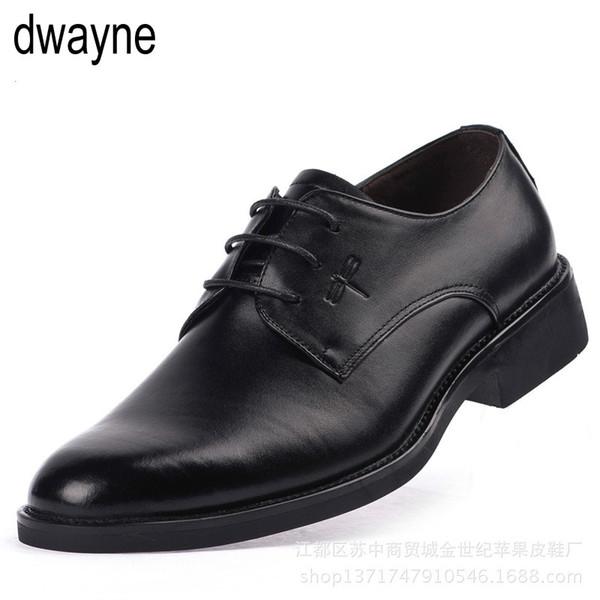 Yüksekliği Artan Asansör Ayakkabı Yeni Erkekler Oxfords Zarif Erkekler Resmi Elbise Ayakkabı 2018 Damat elbise deri