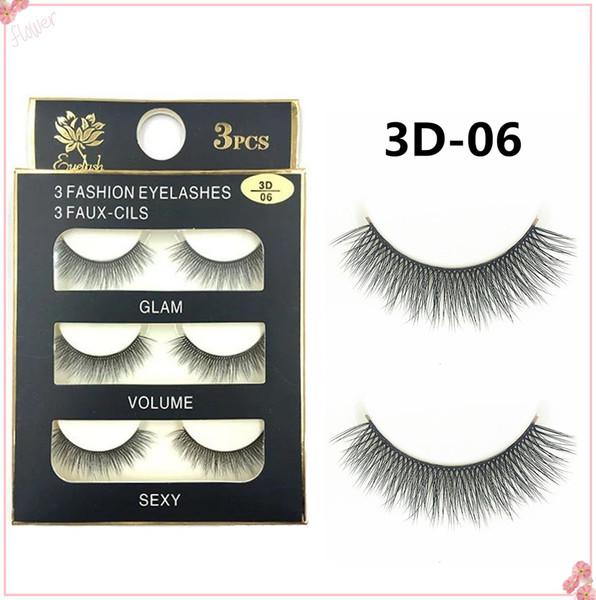 20 Stye 3Pairs New 3D Natural Cross thick Curly Messy False Eyelashes long makeup 3D Lashes Fake Eye Lashes Extension Make Up Beauty 3D-11