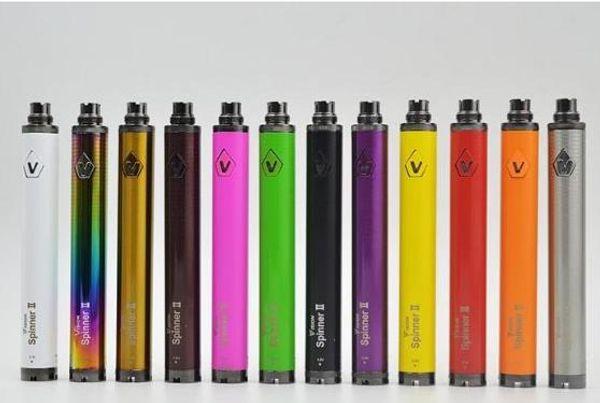 Visão Spinner 2 Bateria 1600 mah Tensão Ajustável eGo Torção e-cigarros Bateria 3.3 ~ 4.8 V Spinner II 510 Rosca DHL livre