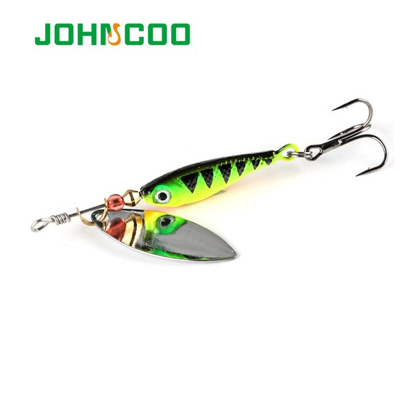 JOHNCOO 4pcs Spinner Bait 12g 15g 20g Spinners Fishing Lure Longcast Artificial Bait Metal Spoon isca Artificial Bait Y18100906